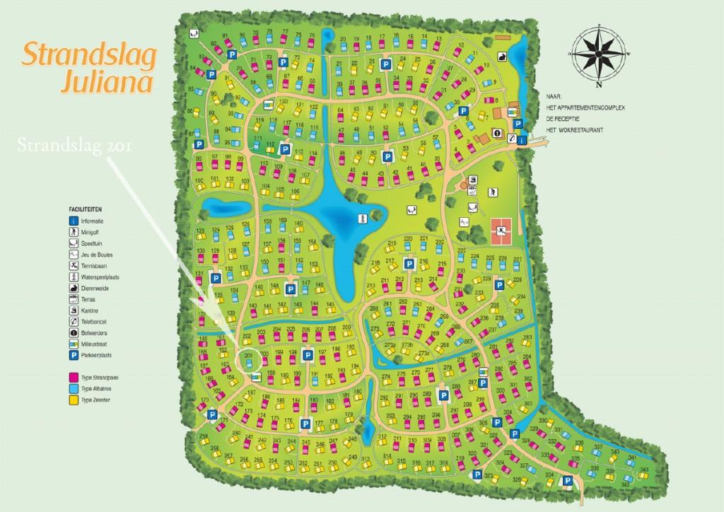 Lageplan Strandslag Julianadorp